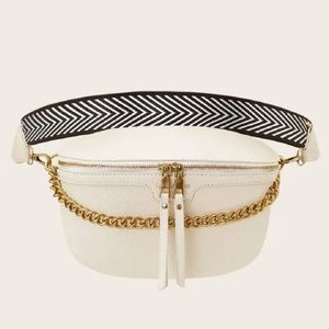 White & gold fanny pack